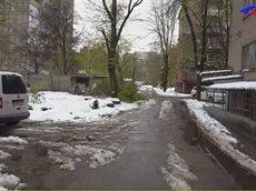 Днепропетровск 2017 после снегопада 19 апреля